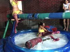 Bi Schlampen haben auf Party versauten Spaß